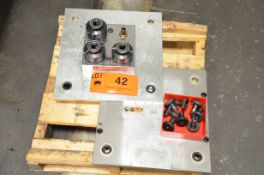 """LOT/ (2) JERGENS 15.5"""" x 16"""" BALL LOCK ALUMINUM SUB-TABLE SET WITH FCS SYSTEM CLAMPING"""