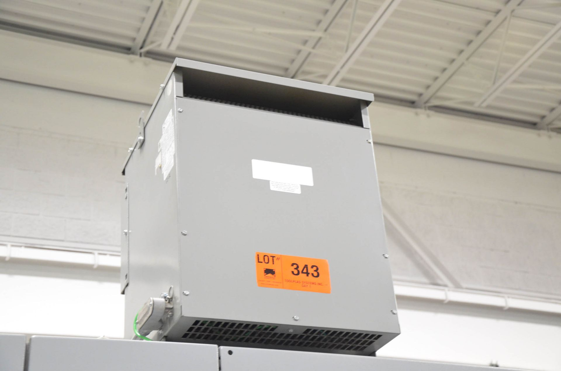 REX 45KVA/600-400-221V/3PH/60HZ TRANSFORMER (CI) [RIGGING FEES FOR LOT #343 - $50 USD PLUS