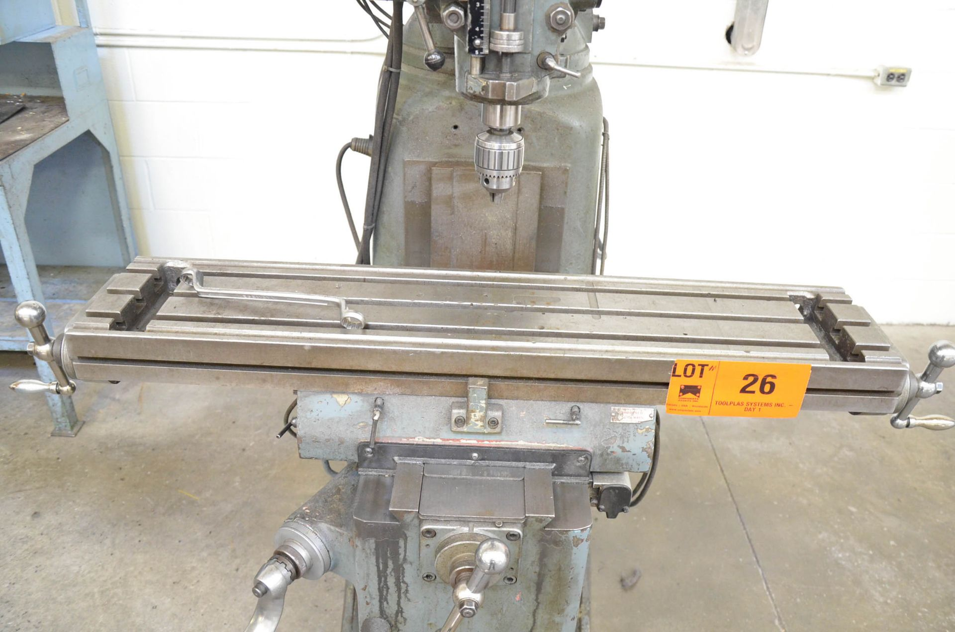 """KONDIA POWERMILL TYPE FV-1 VERTICAL TURRET MILLING MACHINE WITH 9""""X42"""" TABLE, SPEEDS TO 4,000RPM, - Image 6 of 6"""