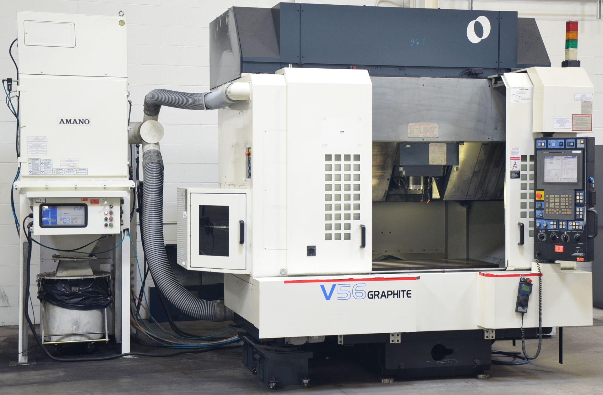 MAKINO (2008) V56 GRAPHITE CNC VERTICAL MACHINING CENTER WITH MAKINO PROFESSIONAL 5 TOUCHSCREEN