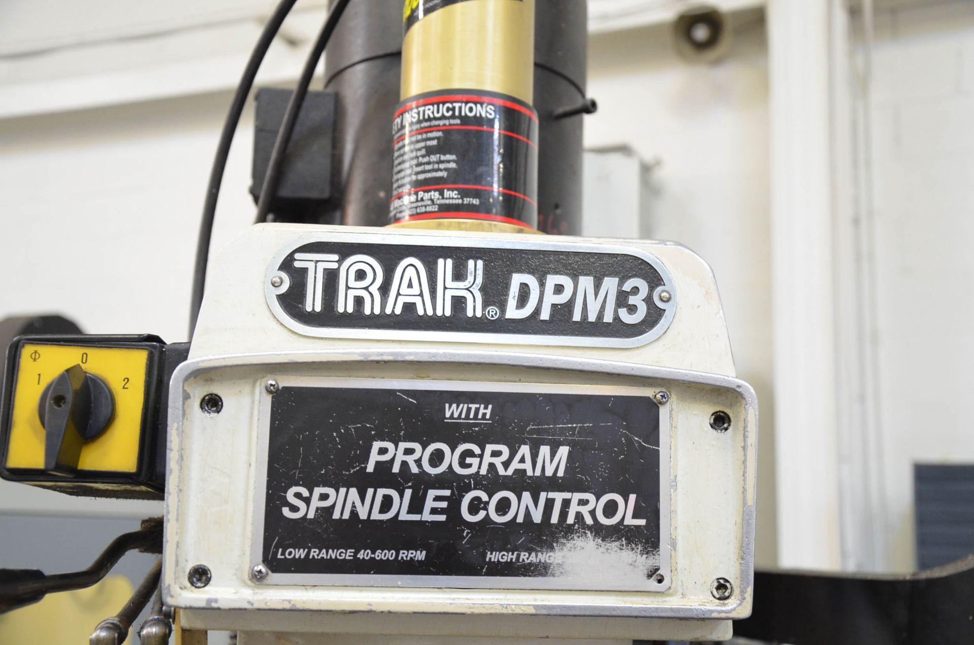 "TRAK DPM3 CNC VERTICAL TURRET MILLING MACHINE WITH PROTO TRAK (2016) SMX CNC CONTROL, 10"" X 50"" - Image 4 of 10"