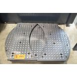 """LOT/ 39.37""""X86.75"""" COMBINATION SUB TABLE WITH 55"""" DIAMETER ROTARY SUB TABLE AND WING SUB-TABLES WITH"""