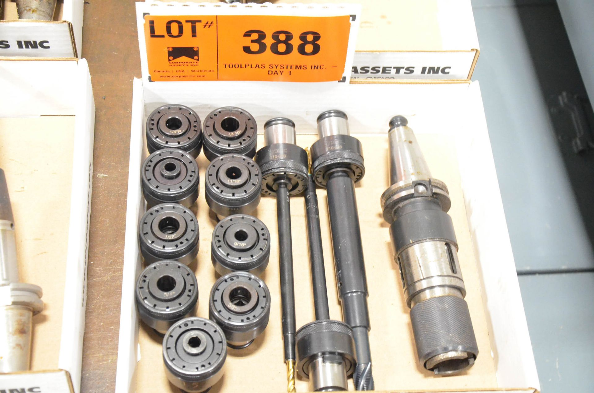 LOT/ CAT 40 QUICK CHANGE HOLDER SET WITH COLLETS