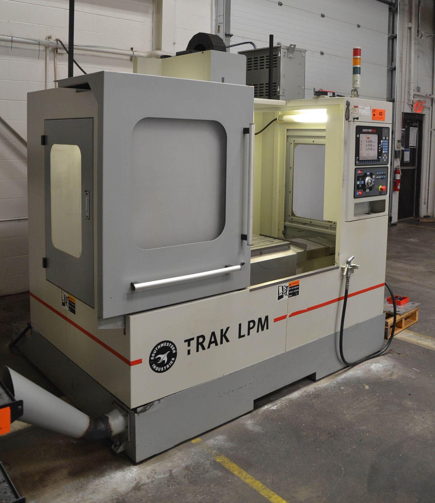 "SWI (2013) TRAK LPM CNC VERTICAL MACHINING CENTER WITH PROTO TRAK PMX CNC CONTROL, 19.5"" X 35.5"" - Image 3 of 9"
