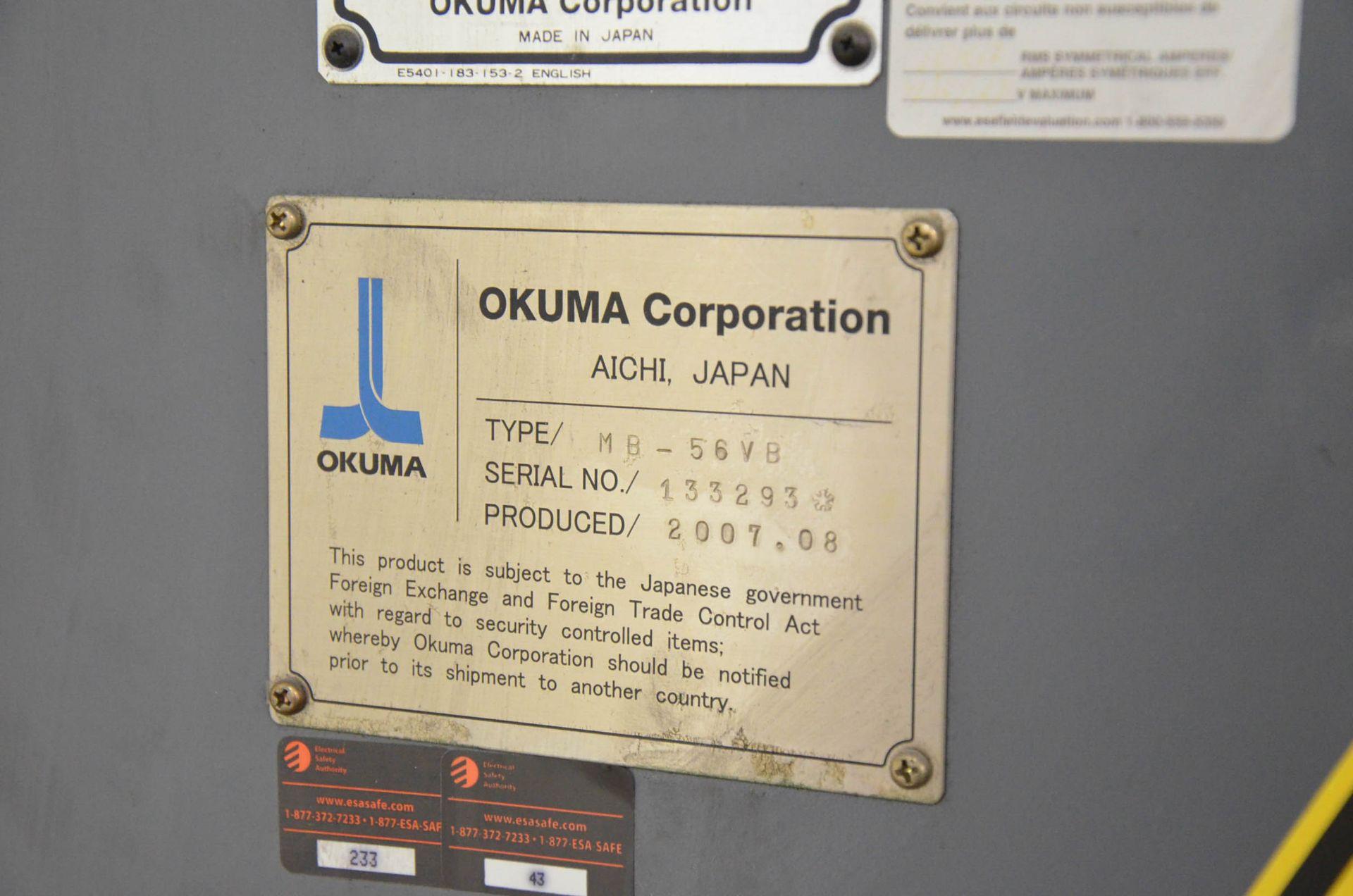OKUMA (2007) ACE CENTER MB-56VB CNC VERTICAL MACHINING CENTER WITH OKUMA OSP-P200M CNC CONTROL, - Image 11 of 11