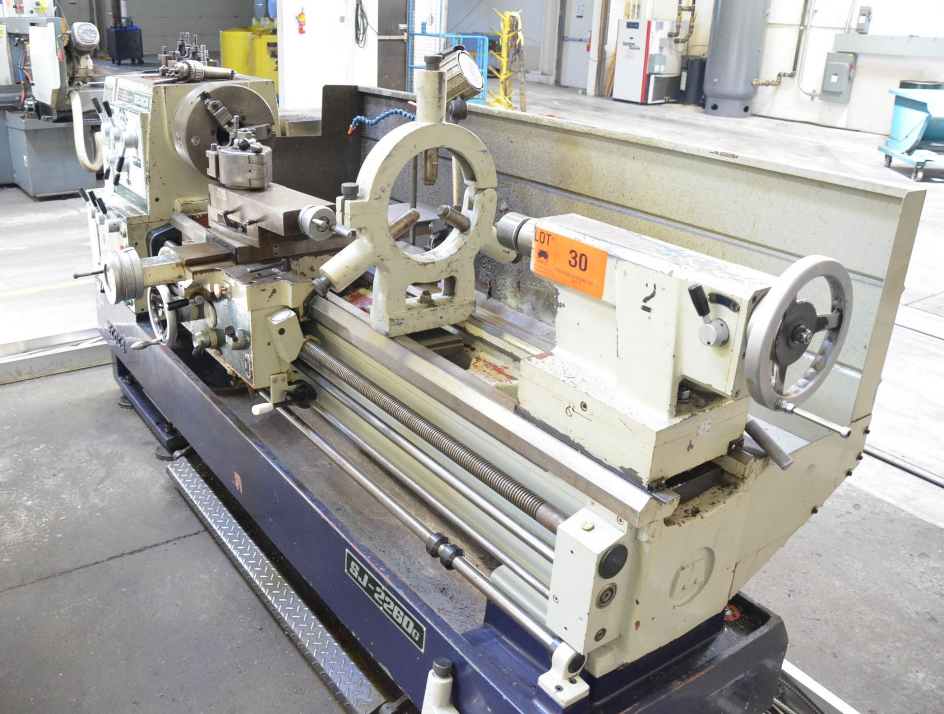 """ECOCA (2012) SJ-2260G GAP BED ENGINE LATHE WITH 22"""" SWING OVER BED, 30"""" SWING IN THE GAP, 60"""" - Image 6 of 9"""