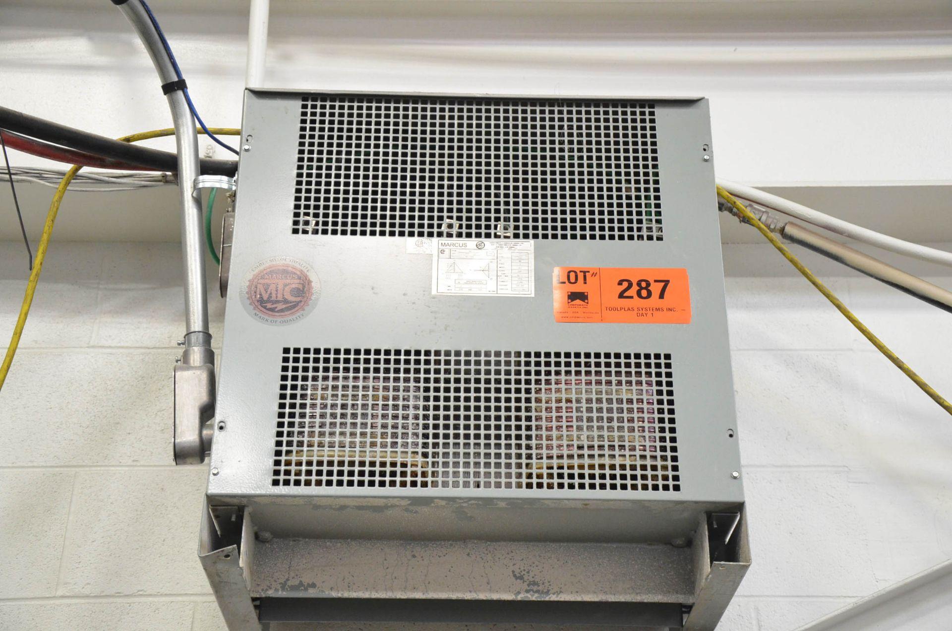 MARCUS 75KVA/600-480-277V/3PH/60HZ TRANSFORMER (CI) [RIGGING FEES FOR LOT #287 - $50 USD PLUS