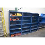 LOT/ RIGGING, MACHINERY DOLLIES AND SUPPLIES WITH CABINET