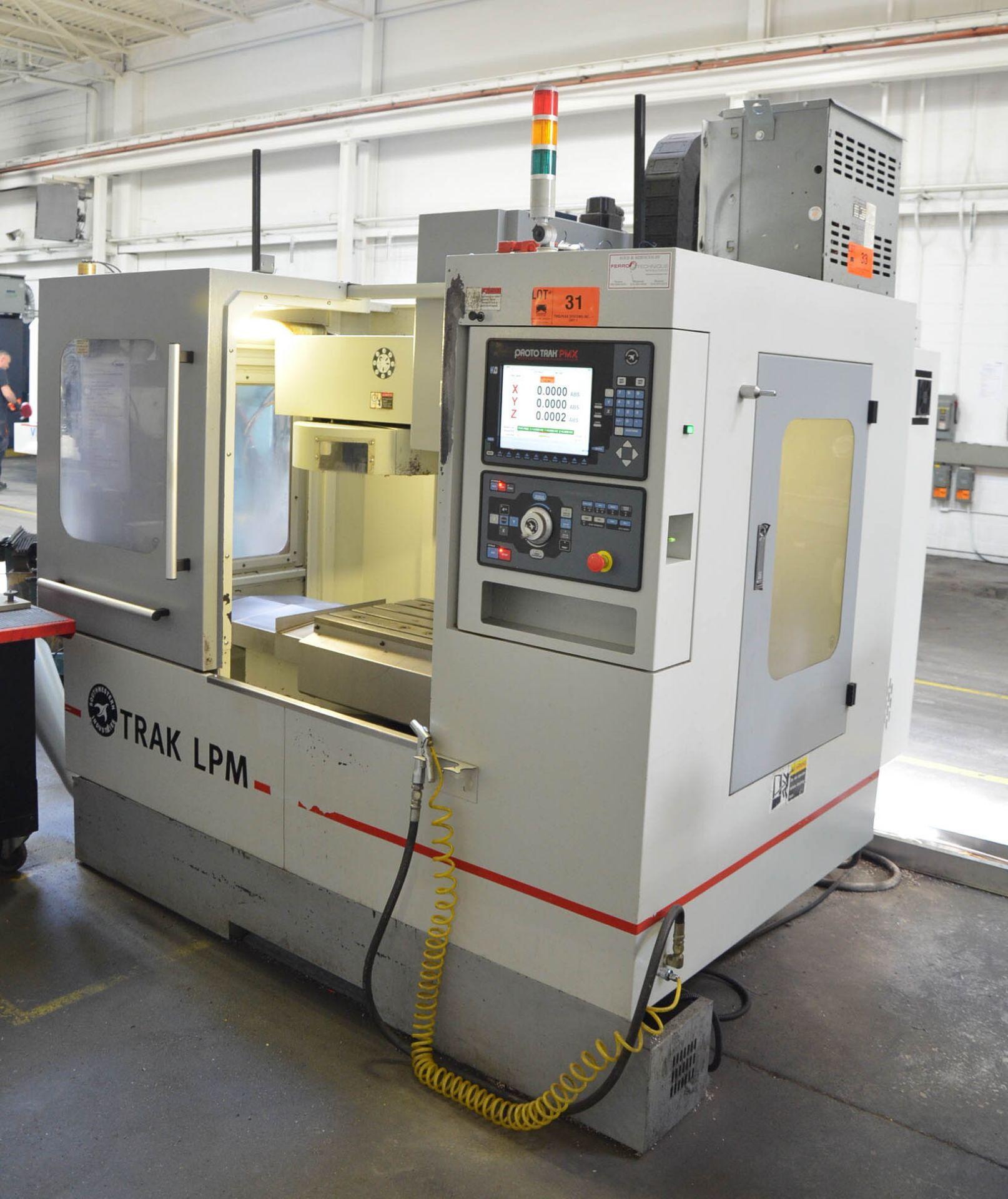 SWI (2014) TRAK LPM 4-AXIS READY CNC VERTICAL MACHINING CENTER WITH PROTO TRAK PMX CNC CONTROL, 19. - Image 3 of 12