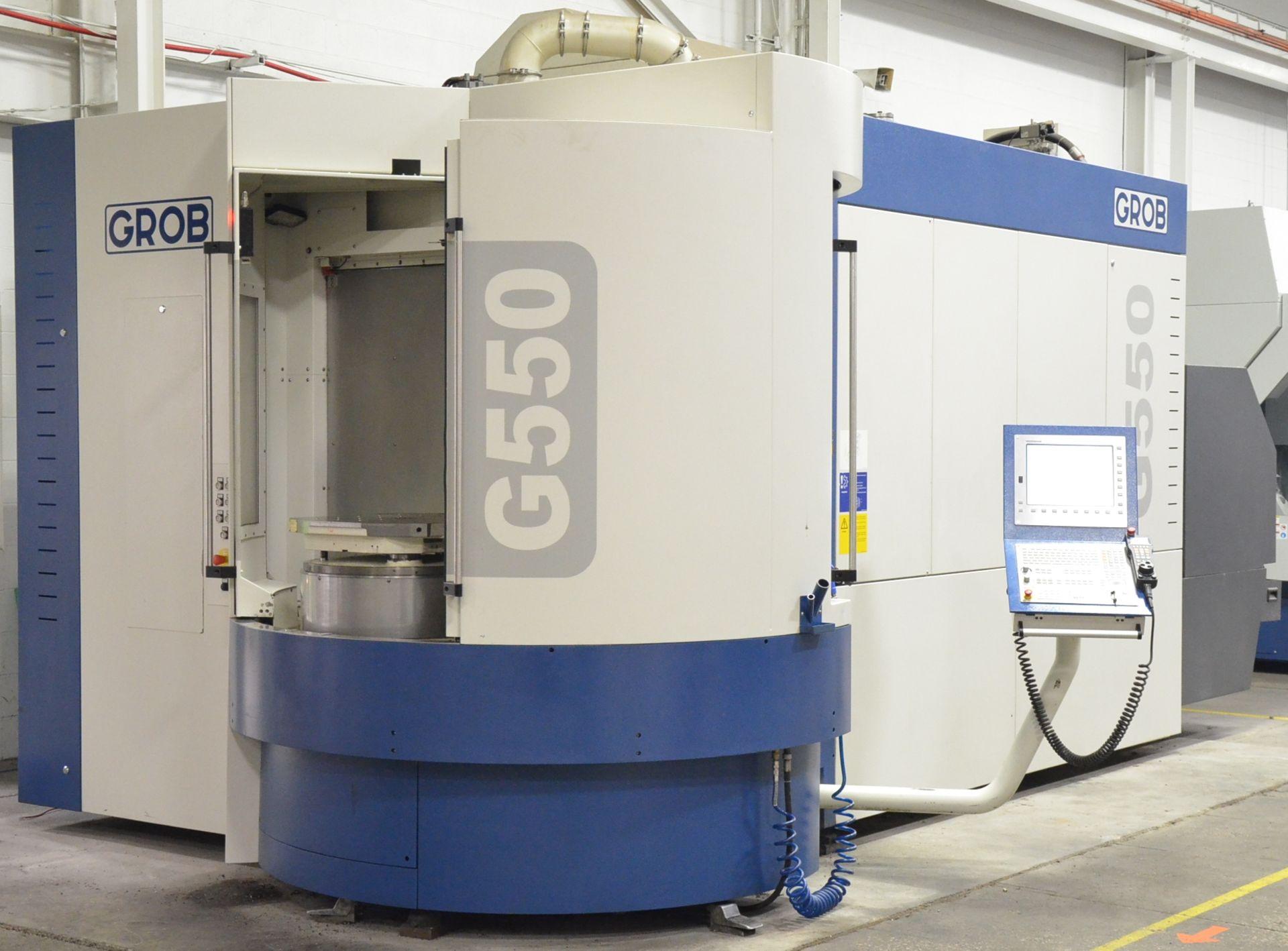 GROB (2014) G550 5-AXIS TWIN PALLET CNC MACHINING CENTER WITH HEIDENHAIN ITNC 530 CNC CONTROL, 24.