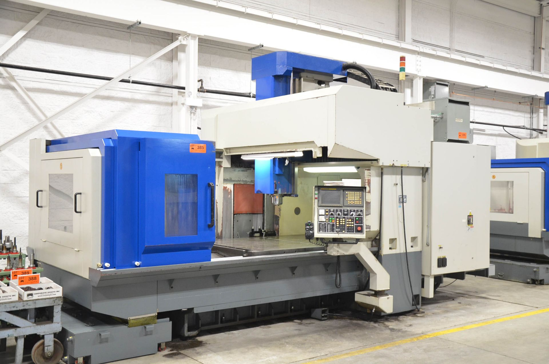AWEA (2005) SP2016HSS GANTRY-TYPE CNC VERTICAL MACHINING CENTER WITH FANUC SERIES 18I-MB CNC