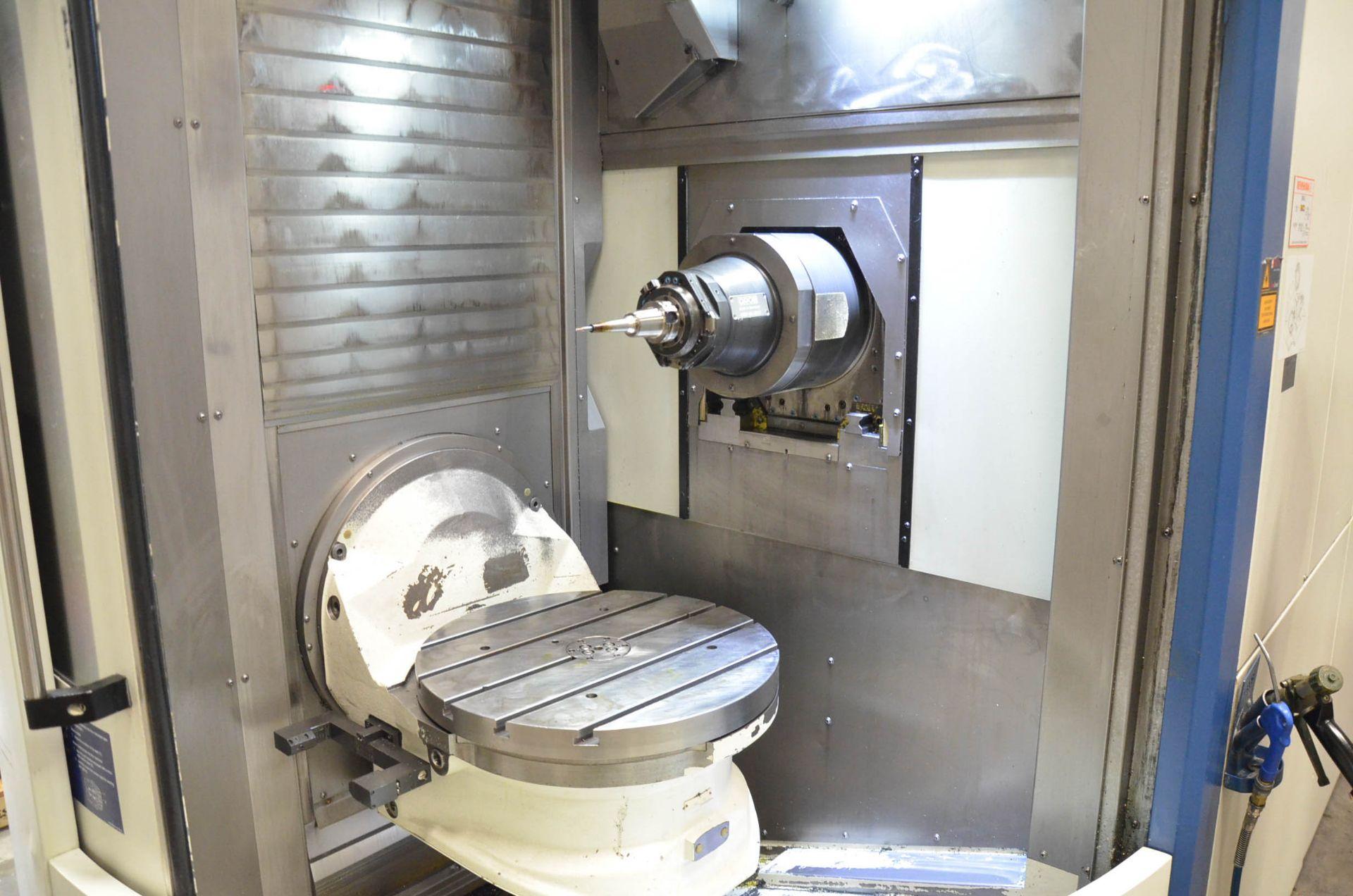 "GROB (2012) G350 5-AXIS CNC MACHINING CENTER WITH HEIDENHAIN ITNC 530 CNC CONTROL, 22.25"" DIAMETER - Image 7 of 12"