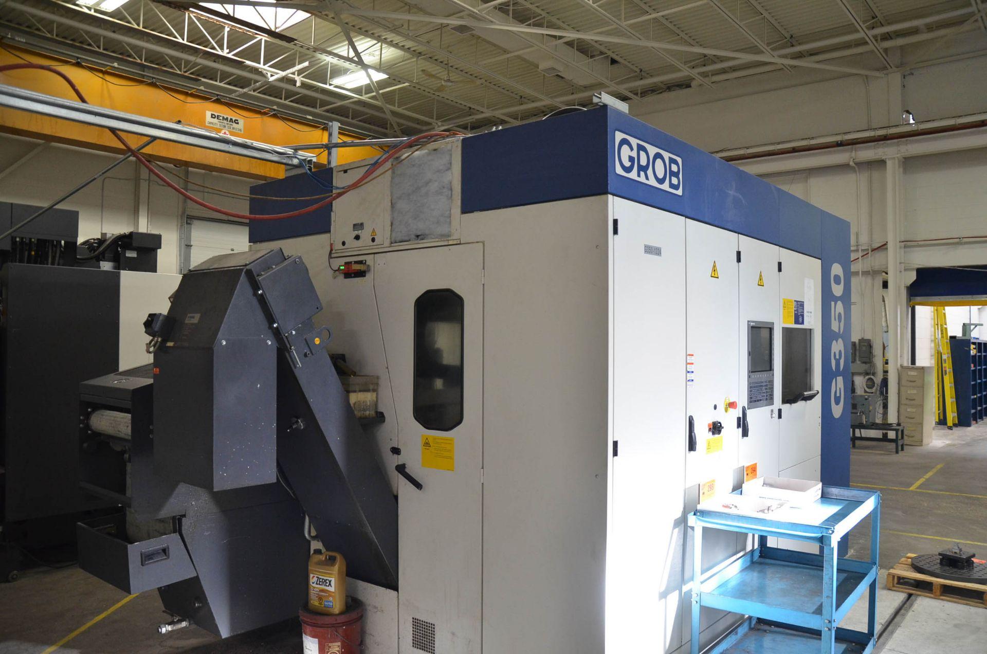 "GROB (2012) G350 5-AXIS CNC MACHINING CENTER WITH HEIDENHAIN ITNC 530 CNC CONTROL, 22.25"" DIAMETER - Image 10 of 12"