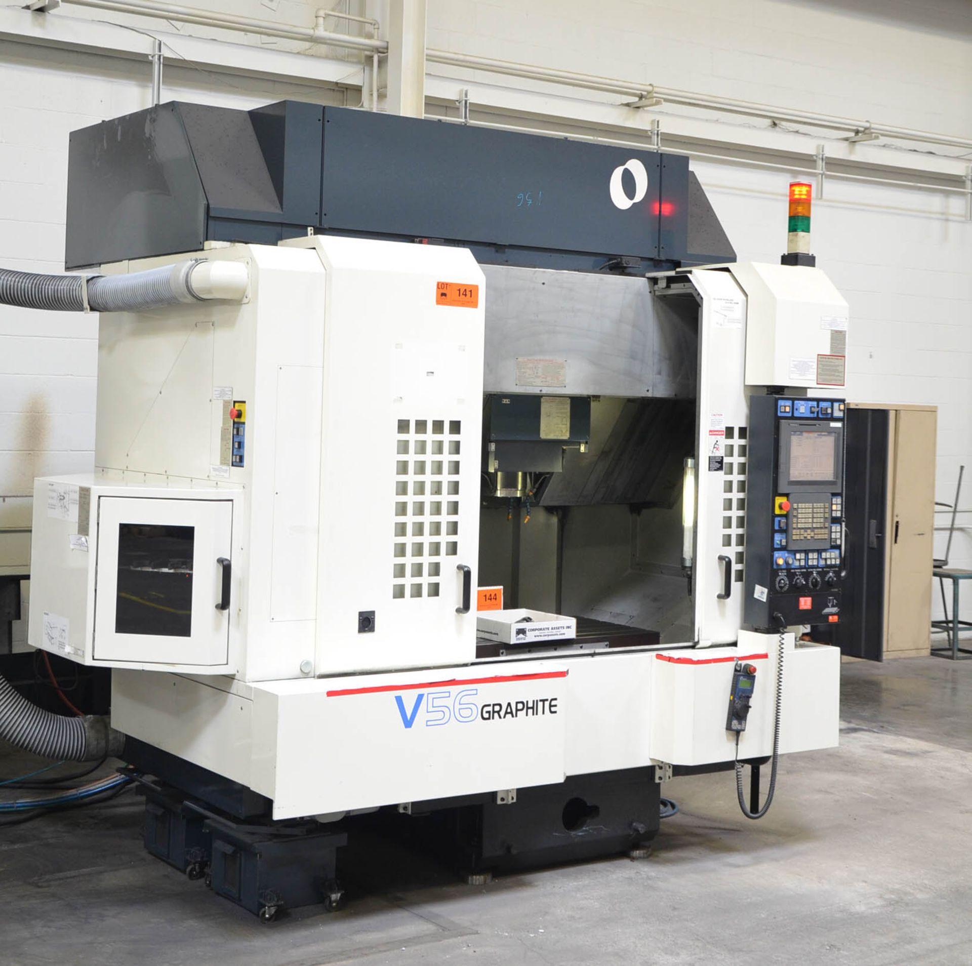 MAKINO (2008) V56 GRAPHITE CNC VERTICAL MACHINING CENTER WITH MAKINO PROFESSIONAL 5 TOUCHSCREEN - Image 2 of 10