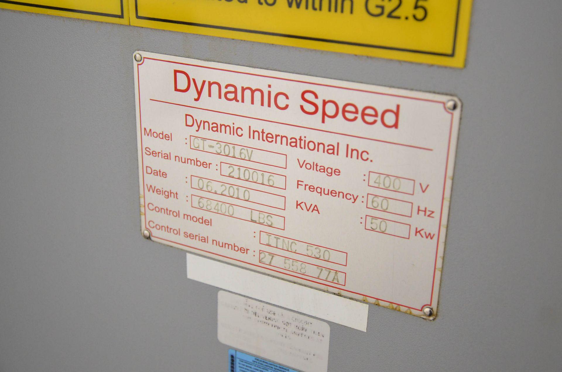 DYNAMIC SPEED (2010) GT-3016V GANTRY-TYPE VERTICAL MACHINING CENTER WITH HEIDENHAIN ITNC530 CNC - Image 11 of 12