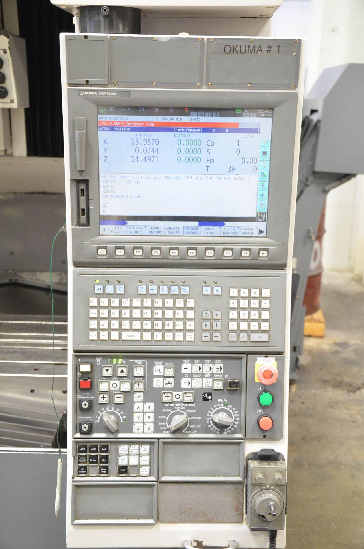 OKUMA (2007) ACE CENTER MB-56VB CNC VERTICAL MACHINING CENTER WITH OKUMA OSP-P200M CNC CONTROL, - Image 7 of 11