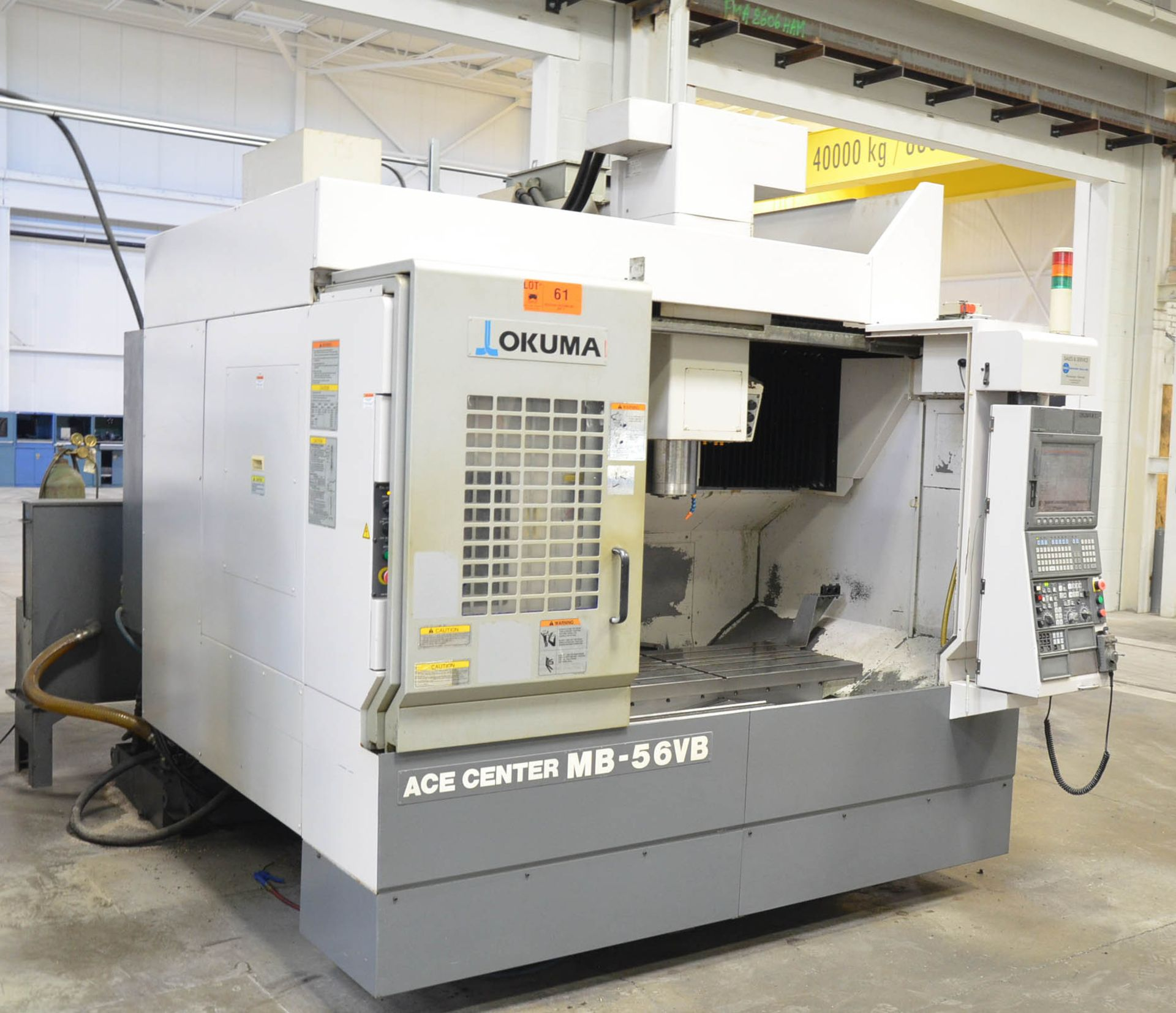 OKUMA (2007) ACE CENTER MB-56VB CNC VERTICAL MACHINING CENTER WITH OKUMA OSP-P200M CNC CONTROL, - Image 4 of 11