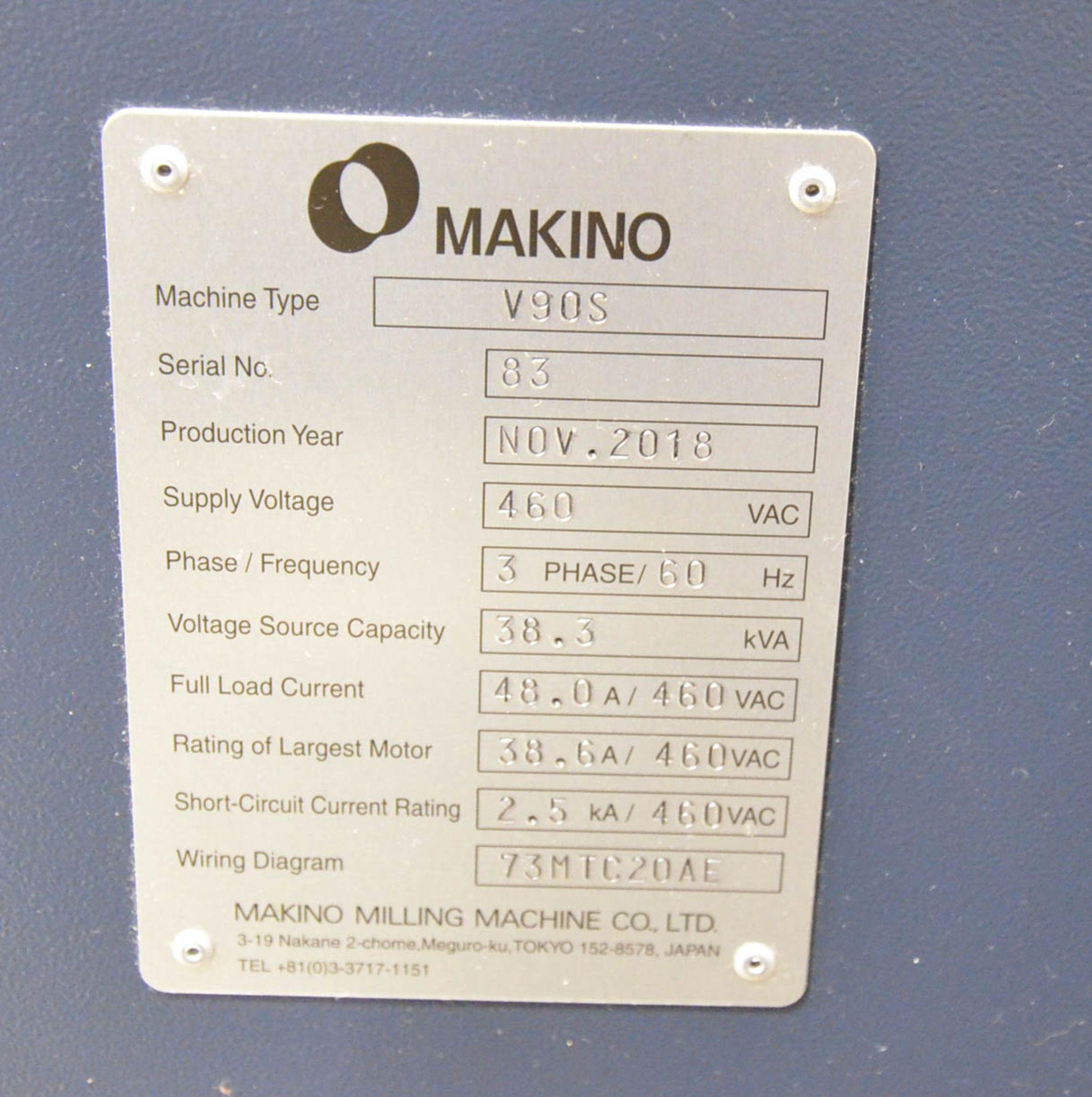 "MAKINO (NOV 2018) V90S 5-AXIS CNC MACHINING CENTER WITH MAKINO PROFESSIONAL 6 CNC CONTROL, 78.74"" - Image 12 of 15"