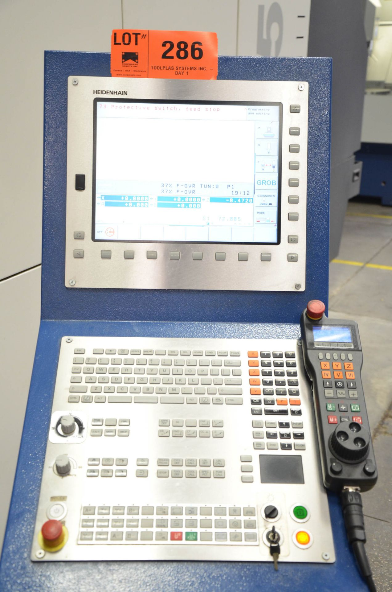 GROB (2014) G550 5-AXIS TWIN PALLET CNC MACHINING CENTER WITH HEIDENHAIN ITNC 530 CNC CONTROL, 24. - Image 11 of 13
