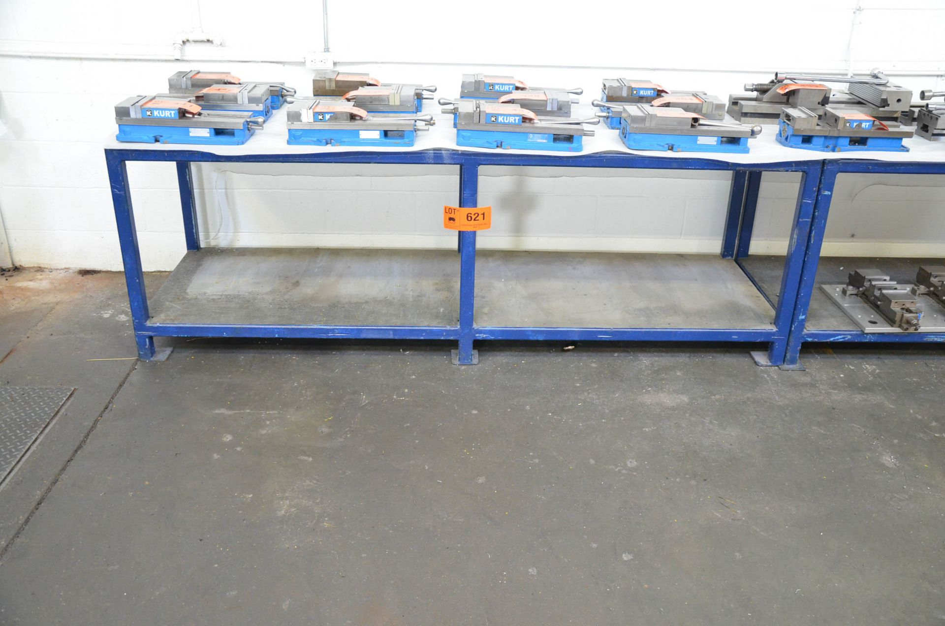 LOT/ (2) STEEL WORKBENCHES