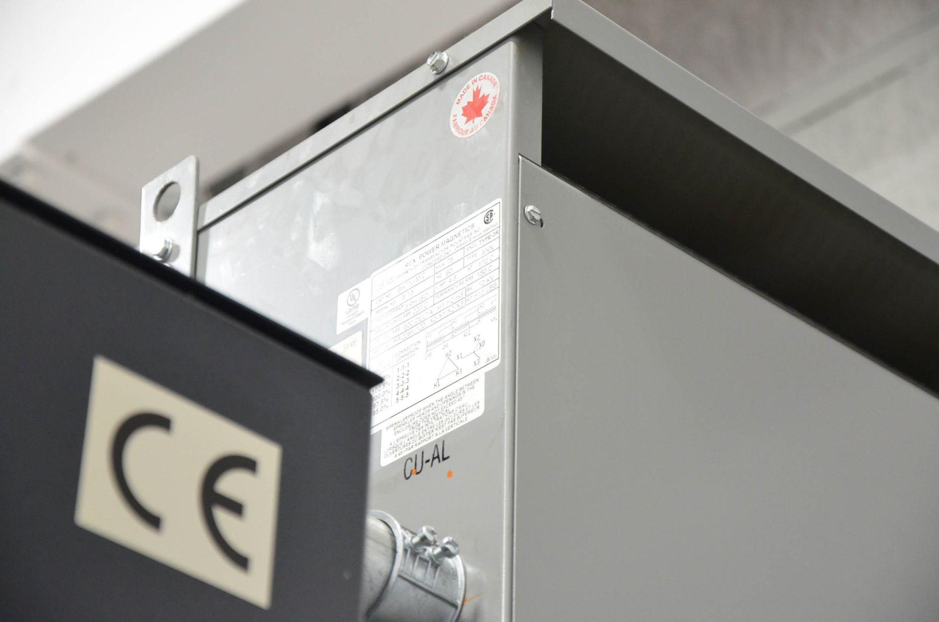 REX 75KVA/600-208-120V/3PH/60HZ TRANSFORMER (CI) [RIGGING FEES FOR LOT #227 - $50 USD PLUS - Image 2 of 2