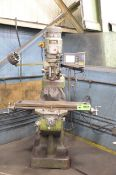 """FIRST LC-1 _ VS VERTICAL TURRET MILLING MACHINE WITH 42""""X9"""" TABLE, SPEEDS TO 4500 RPM, ACU-RITE DRO,"""