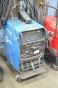 MILLER SYNCROWAVE 200 PORTABLE DIGITAL TIG WELDER WITH CABLES AND GUN, S/N: N/A (GAS BOTTLE NOT