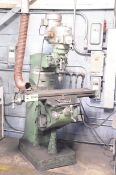 """FIRST LC-1 _ VS VERTICAL TURRET MILLING MACHINE WITH 42""""X9"""" TABLE, SPEEDS TO 4500 RPM, 575V/3PH/"""