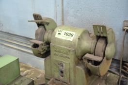 """HAMMOND MD-12 10"""" HEAVY DUTY DOUBLE END PEDESTAL GRINDER WITH 175 RPM, 2 HP/575V/3PH/60HZ, S/N: 3299"""