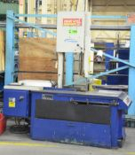 """MARVEL SERIES 8 MARK I TILTING HEAD SLIDING FRAME VERTICAL BAND SAW WITH 17"""" THROAT, 12"""" MAX."""