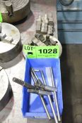 LOT/ LATHE CHUCK JAWS, FACE PLATE, TOOLING AND CART