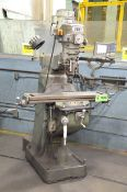 """MANFORD FIRST 1F-1-1/2 VS VERTICAL TURRET MILLING MACHINE WITH 42""""X9"""" TABLE, SPEEDS TO 4500 RPM,"""