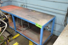 """30 """" x 96 """" x 1/4 """" STEEL LAYOUT TABLE WITH STAND"""