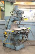 """GENTIGER (2008) SHCM-S96RA VERTICAL TURRET MILLING MACHINE WITH 49""""X11"""" TABLE, SPEEDS TO 3600 RPM,"""
