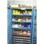 LOT/ HIBOY STORAGE CAGE WITH PARTS AND SUPPLIES