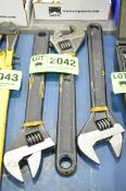 LOT/ ADJUSTABLE WRENCHES