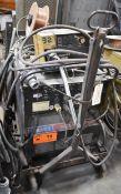 HOBART MEGA-MIG 650-RVC MIG WELDER WITH HOBART 2410 WIRE FEEDER, CABLES & GUN, S/N: N/A