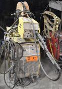 ESAB 452 CVCC PORTABLE DIGITAL MIG WELDER WITH ESAB MIG 4HD WIRE FEEDER, CABLES & GUN, S/N: MA-