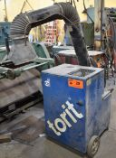 DONALDSON TORIT PORT-A-TRUNK PORTABLE SNORKEL-TYPE DUST COLLECTOR, S/N: N/A