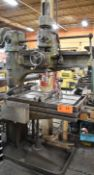 """ARCHDALE 3' RADIAL ARM DRILL WITH SPEEDS TO 980 RPM, 15"""" COLUMN TRAVEL, 38""""X22"""" ADJUSTABLE TABLE,"""
