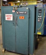"""GRIEVE CAV-350 ELECTRIC FLOOR CABINET OVEN WITH 350 DEG. F. MAX. TEMPERATURE, 12 KW, 36""""X60""""X36""""D"""