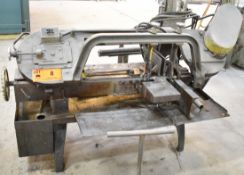 """MFG. UNKOWN HORIZONTAL BAND SAW WITH 18""""X11"""" CAPACITY, S/N: N/A (CI) [RIGGING FEE FOR LOT #8 - $50"""