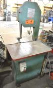 """E-R MAIER KM1012 VERTICAL BAND SAW WITH 44.5""""X30"""" TABLE, 14"""" THROAT, 16.5"""" MAX. WORKPIECE HEIGHT,"""