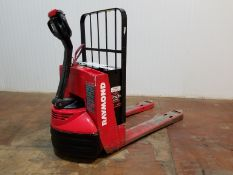 RAYMOND (2004) 102T 4500 LB. CAPACITY 24V WALK-BEHIND ELECTRIC PALLET JACK WITH CHARGER, 1229 HRS (