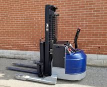 """BLUE GIANT BGNR30-160 3000 LB. CAPACITY 24V WALK-BEHIND ELECTRIC REACH STACKER WITH 160"""""""