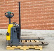 JUNGHEINRICH EJE-120 4500 LB. CAPACITY 24V WALK-BEHIND ELECTRIC PALLET JACK WITH CHARGER, S/N: