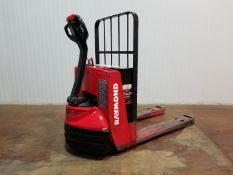 RAYMOND (2004) 102T 4500 LB. CAPACITY 24V WALK-BEHIND ELECTRIC PALLET JACK WITH CHARGER, 1910 HRS (