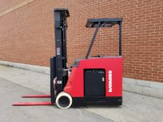 """RAYMOND (2010) 4200-C40TT 4000 LB. CAPACITY 36V STAND-UP ELECTRIC FORKLIFT WITH 227"""" MAX. VERTICAL"""