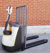 CROWN (2013) WP3035-45 4500 LB. CAPACITY 24V WALK-BEHIND ELECTRIC PALLET JACK WITH CHARGER, 3150 HRS