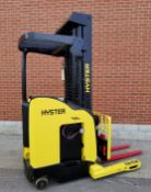 """HYSTER (2008) N30ZDR-16.5 3000 LB. CAPACITY 36V ELECTRIC REACH TRUCK WITH 242"""" MAX. VERTICAL LIFT, 3"""